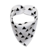 White dog bandana with black triangles