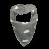 Grey cloud print dog bandana