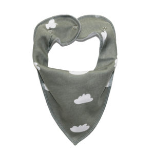 Grey cloud print dog bandana