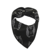 Black Owl Print Dog Bandana