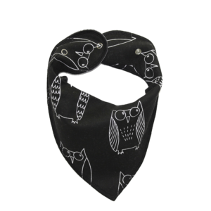 Black Owl Print Dog Bandana