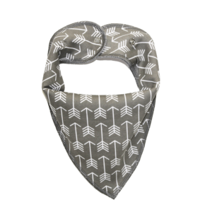 Arrow Print Grey Dog Bandana