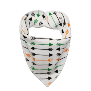 Arrow print white dog bandana