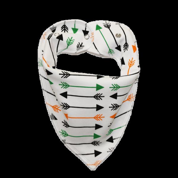 Arrow print white dog bandana