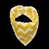 yellow zig zag dog bandana