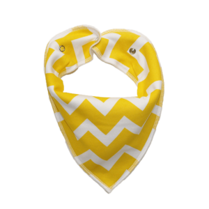 yellow zig zag dog bandana