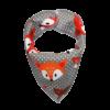 grey fox print dog bandana