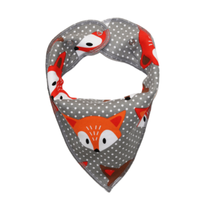 grey fox print dog bandana