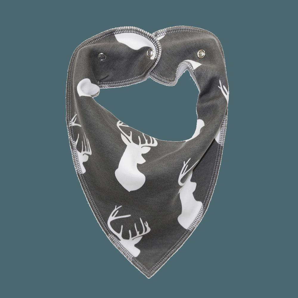 Stag Print Grey Dog Bandana