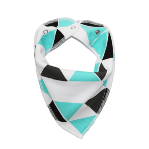 white triangle print dog bandana