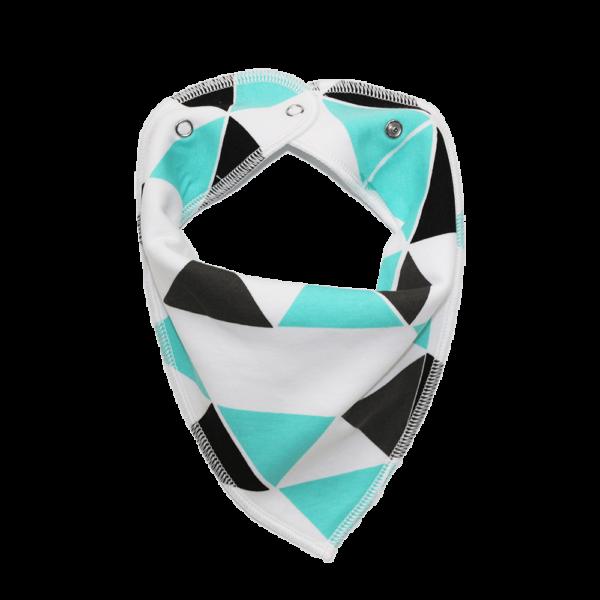white triangle print dog bandana