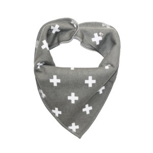 Grey Cross Print Dog Bandana