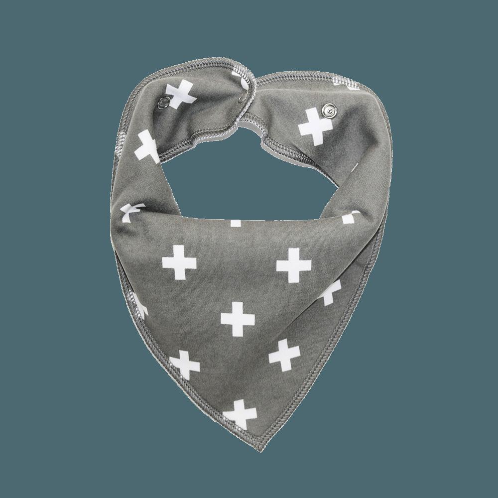 Grey Cross Print Dog Bandana