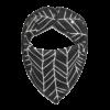 Leaf Print Black Dog Bandana