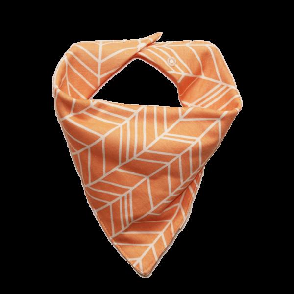orange leaf print dog bandana