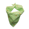 green triangle print dog bandana
