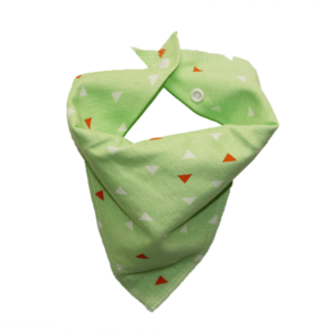 green triangle print dog bandana