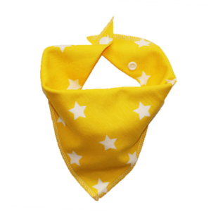 yellow star print dog bandana