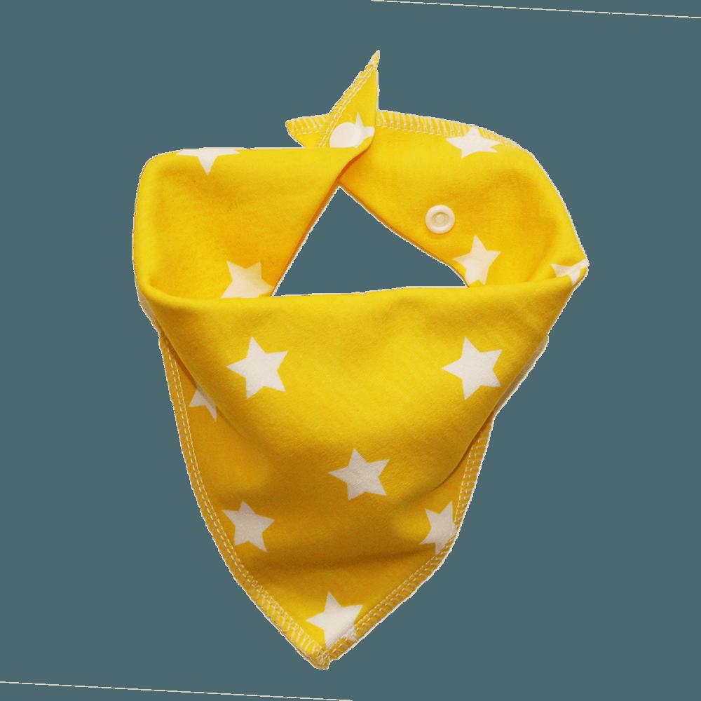 yellow star print dog bandana