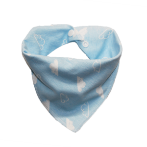 blue cloud print dog bandana
