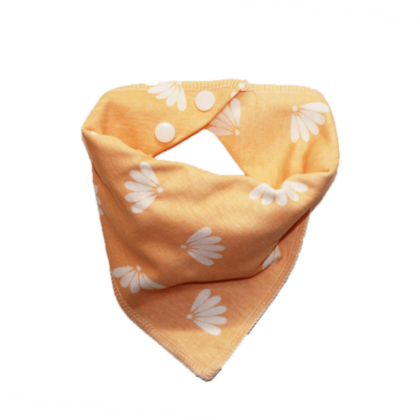 peach flower print dog bandana