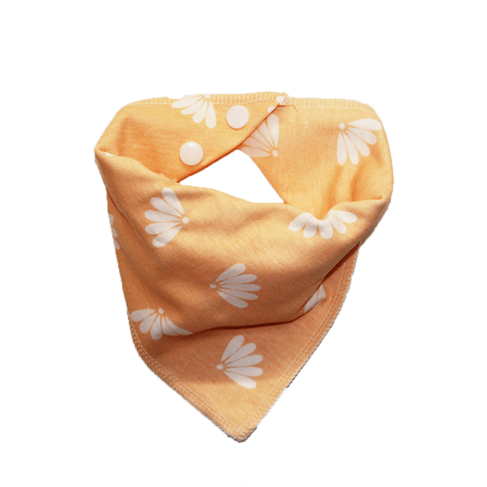 peach flower print dog bandana