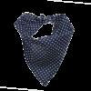 tie on dog bandana navy