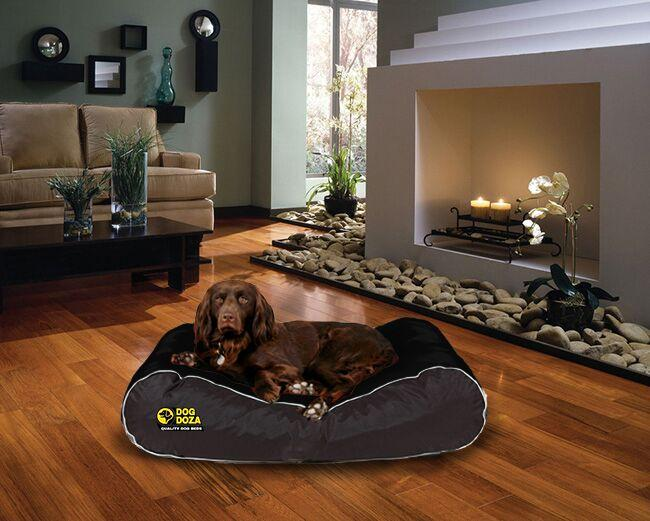 dog doza active box border bed black