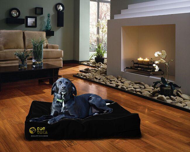 dog doza black mattres bed