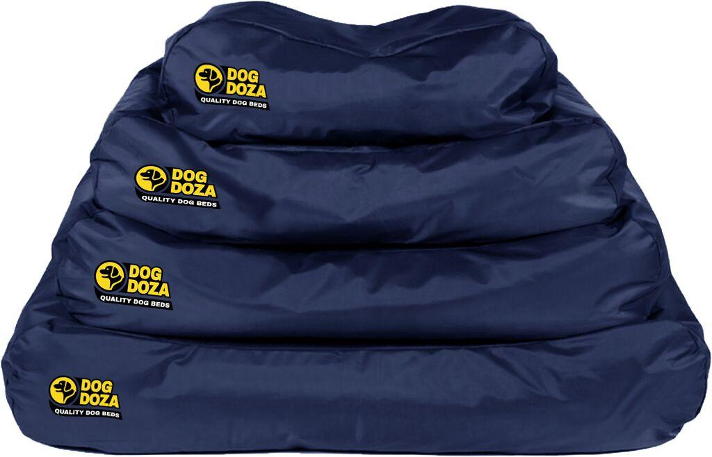 dog doza border box navy blue