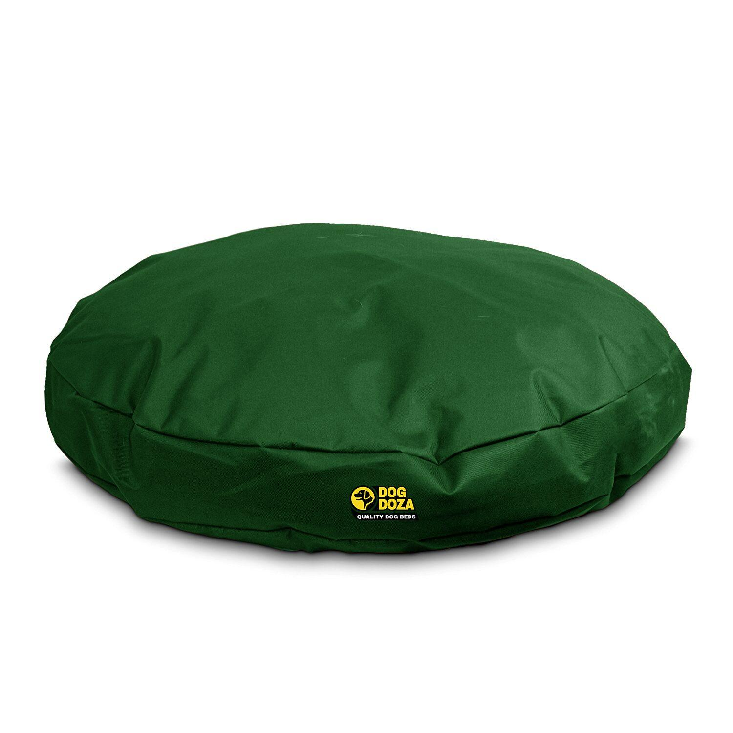 dog doza forest green round dog bed