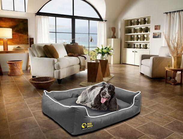 dog doza settee grey