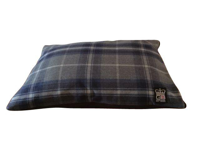 check cushion navy blue st ives