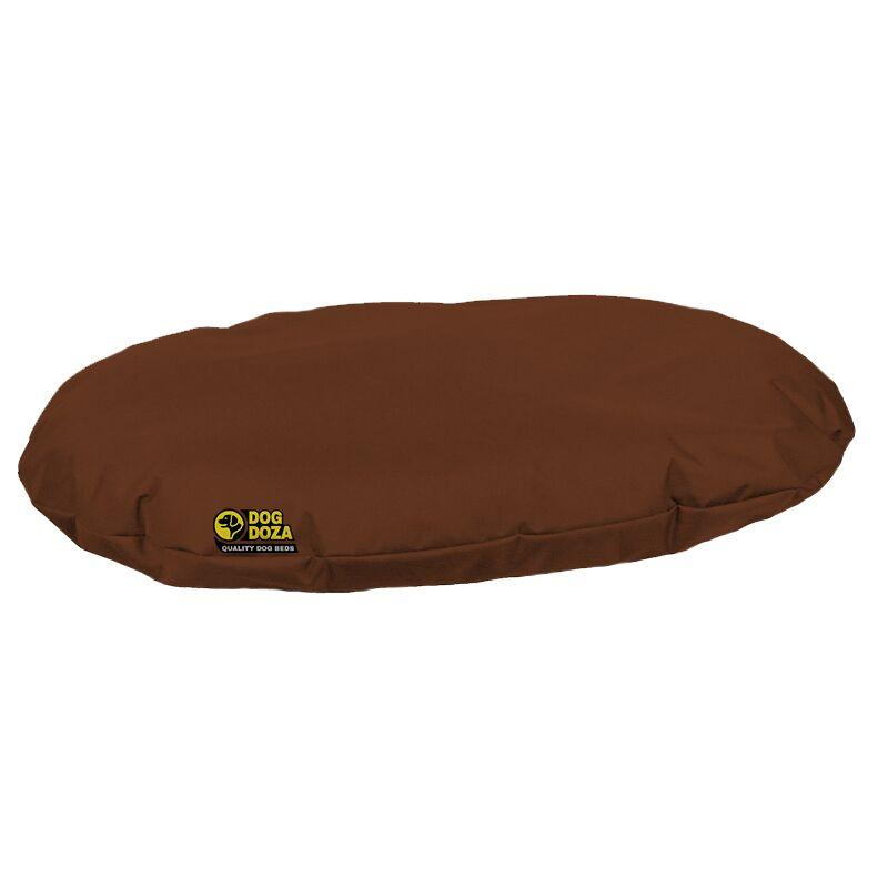 dog doza oval bed brown